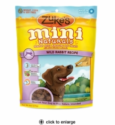 Zuke's Mini Naturals Wild Rabbit Dog Treats