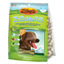 Zuke's Z-Bones Dental Chews Clean Apple Crisp Mini