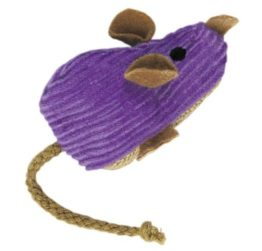KONG Corduroy Mouse Refillable Catnip Toy